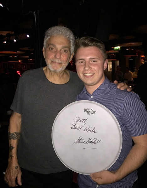 Matt with Steve Gadd